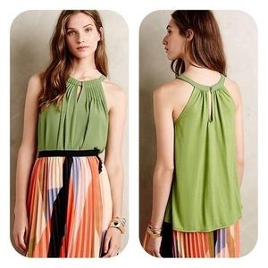 Anthropologie Sunday in Brooklyn green halter top